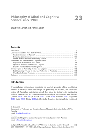 philosophy of mind and cognitive science since 1980 springer