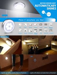 Interior Stair Lights Amir Motion Sensor Light Cordless Battery Powered Led Night Light