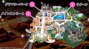 map usj celebrate the new year at universal studios japan s count