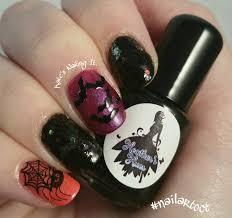 Halloween Nail Art Bats by Kate U0027s Nailing It October Nail Art Challenge Day 22 Critters