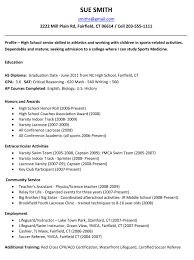 Samples Of A Resume For Job by Example Resume For High Students For College Applications