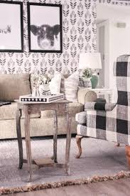 our farmhouse living room makeover our buffalo check chair