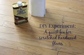 diy experiment a fix for scratched hardwood floors