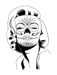 marilyn coloring pages 16 sugar skull regarding ideas 13