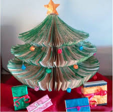 Decoration For Christmas Tree Diy by Tiny Space Upcycled Book Christmas Tree Diy Hometalk