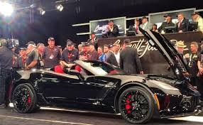 corvette z06 convertible price rick hendrick buys the 2015 vin 001 corvette z06