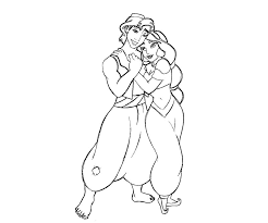 aladdin loves jasmine coloring pages coloringstar