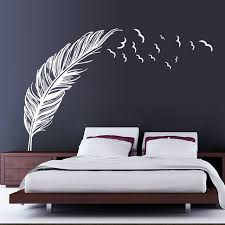 diy plume d oiseau sticker mural chambre maison sticker mural
