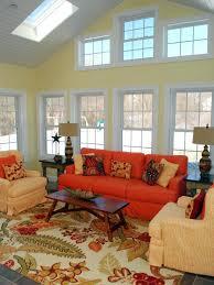 Orange Sofa Living Room by Decorating With Fall Colors Martha Stewart Loversiq