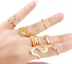 s rings ring set of 7 s midi rings online shopping india