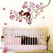 popular pink tree wall decal buy cheap lots new hot pink monkey the tree wall decals removable adesivo parede sticker