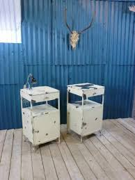 hospital style bedside table industrial vintage hospital bedside cabinets industrial style