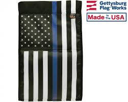Thin Blue Line Flag Thin Blue Line Usa Garden Flag