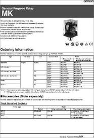 mk3p i ac240 datasheet specifications relay type general