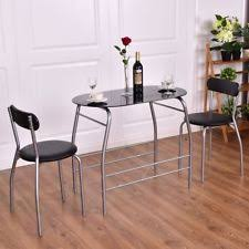 Kitchen Bistro Table by 3pcs Bistro Dining Set Table And 2 Chairs Kitchen Pub Furniture