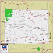 map of wyoming map of wyoming travelsfinders
