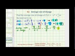 How To Find The Rate Of Change In A Table Ex Find The Average Rate Of Change Given A Function Rule Math