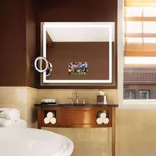 integrity lighted mirror w tv by electric mirror ylighting