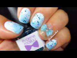 Baby Nail Art Design Simple Baby Blue Nail Art Youtube