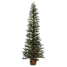 4 ft pre lit pine artificial tree in burlap base with