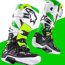 thor t 30 motocross boots alpinestars tech 7 vegas motocross boots black white green flo