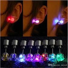 light up earring studs 2018 fashion unique design led earrings light light up bling ear
