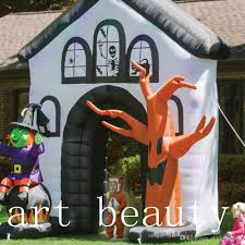 2017 sale cheap inflatable howling haunted house yard