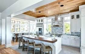 decoration cuisine deco cuisine blanc et bois decoration de cuisine moderne 3 charmante