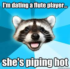 Flute Player Meme - i m dating a flute player she s piping hot lame pun coon