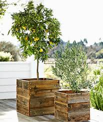 outdoor decor wood planters b a s