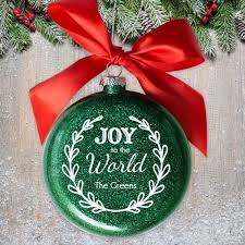 personalized engraved to world glass ornament