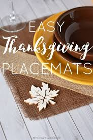 diy thanksgiving placemats my