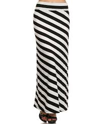 Zulily Clothes And Shoes J Mode Usa Los Angeles Black U0026 Ivory Stripe Maxi Skirt Zulily