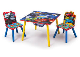 Outdoor Table And Chair Delta Children Nick Jr Kids 3 Piece Blaze And The Monster