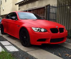 matte red bmw modish wraps transformed my jerez black m3 convertible with 3m