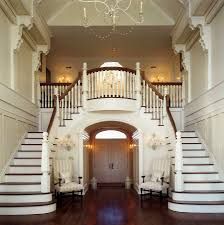 twin staircase design is a classic that never fails in the grand