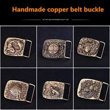 Handmade Belts And Buckles - authentic handmade copper belt buckle retro solid brass belt