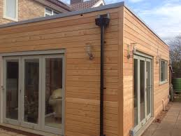 timber clad flat roof extension google search beaumont road cambridge larch clad timber frame extension