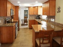 kitchen cabinets galley style galley style kitchen designs yellow laminated cabinet teak wood