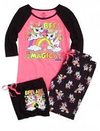 bff unicorn pajama set pajamas clearance shop justice