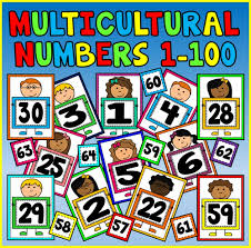 Flashcards Numbers 1 100 Multicultural Number Flashcards 1 100 A4 Maths Early Years Ks1