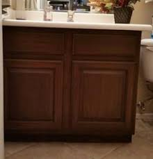 Refurbish Bathroom Vanity Transforming Bathroom Vanity With Gel Stain Java Gel Stain Java