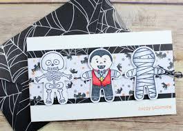 halloween cookie cutters cookie cutter halloween card u0026 envelope luvin stampin