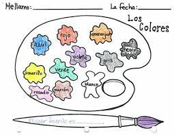 Spanish 1 Worksheets Worksheet Colors In Spanish Worksheet Fiercebad Worksheet And