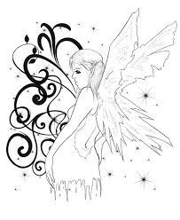 34 fairy tattoos stencils