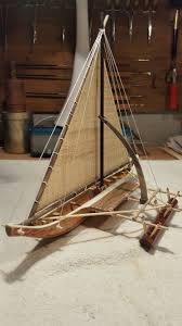 a chamorro guam canoe model i was commissioned to build in 2016