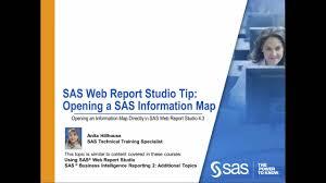 Business Intelligence Specialist Sas Web Report Studio Opening A Sas Information Map Analytics