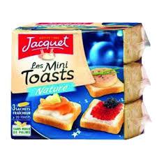 canapé toast jacquet les mini toasts canapé carré toast nature 3x20