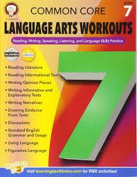 amazon com common core language arts workouts grade 7 reading