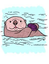crafts sea otter sea urchin coloring